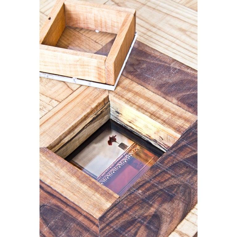 Upside down Konsole mit Mischwälder, Acryl und fotografische Drucke 7