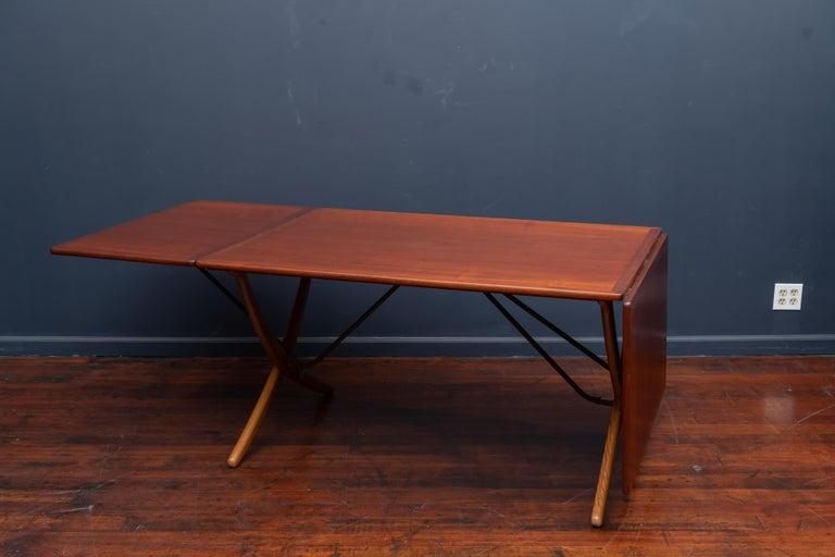 Teak Hans Wegner Sabre Leg Dining Table Model AT-304 For Sale