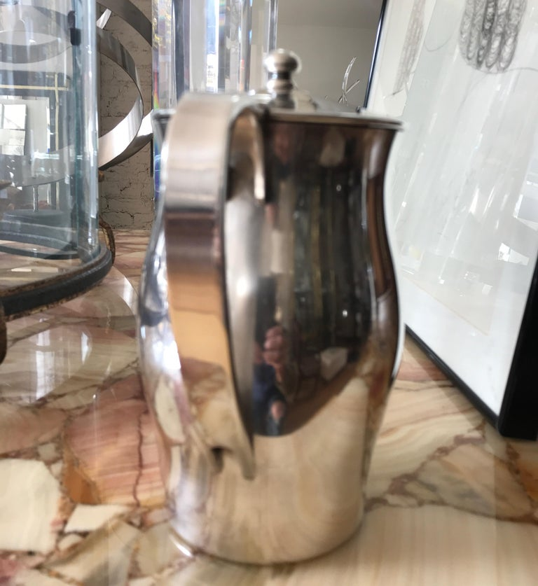 Midcentury Hotel Silver Coffee Pot For Sale 1