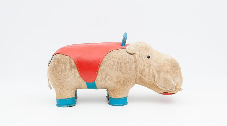 1970s High-Quality Children Toy 'Hippo' by German Renate Müller 'c' 7