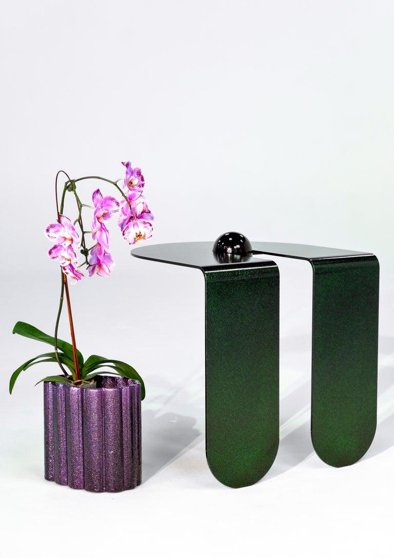 Dazzling Geometric Side Table by Birnam Wood Studio and Suna Bonometti For Sale 4