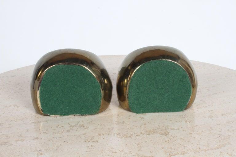 Ben Seibel for Jenfred-Ware Brass Bookends For Sale 1