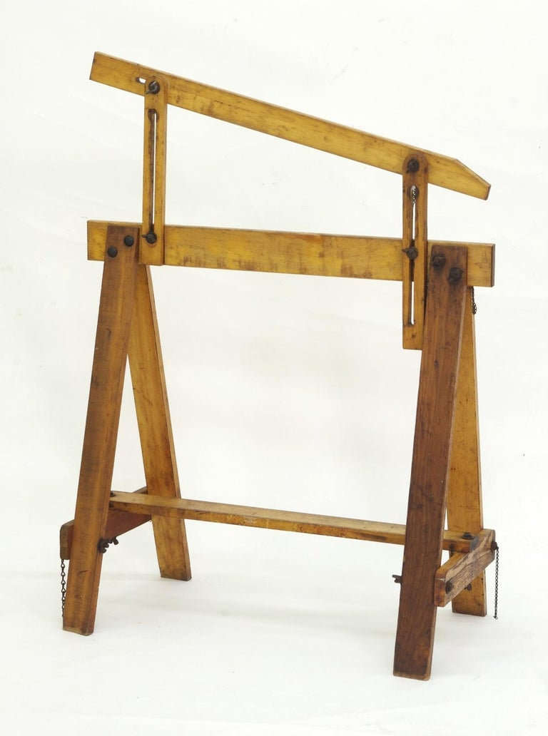 Pair of Adjustable Sawhorses, circa 1920 For Sale 2