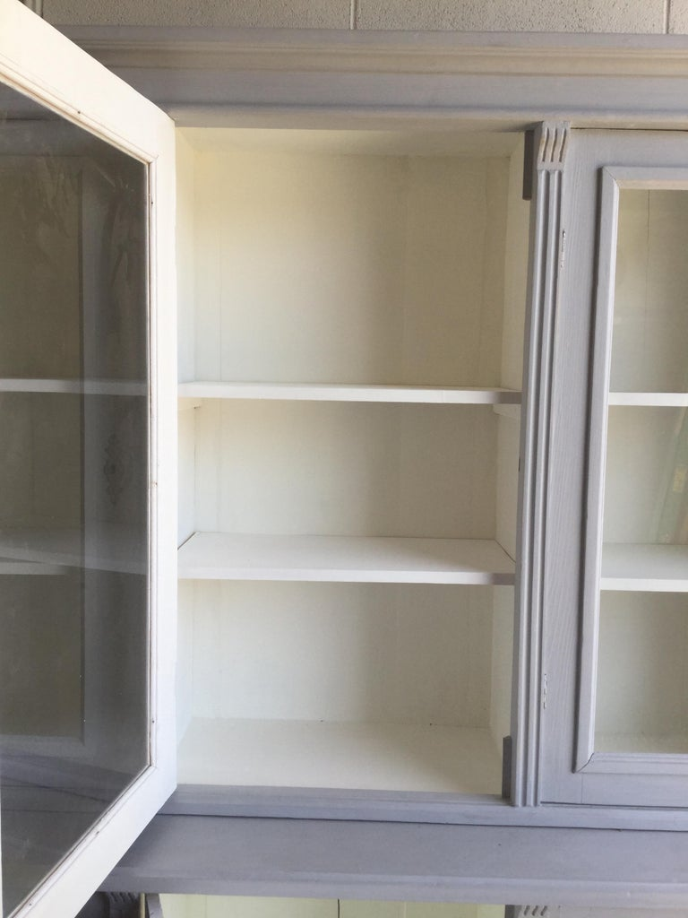 Antique Euro Grey Hutch For Sale 4