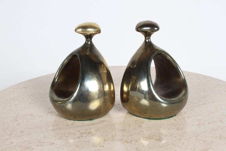 Ben Seibel for Jenfred-Ware Brass Bookends For Sale 2