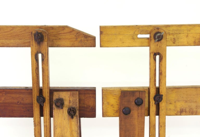 Pair of Adjustable Sawhorses, circa 1920 For Sale 3