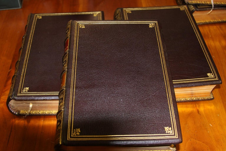 Books, The Writings of William Makepeace Thackeray, Antiques Leather-Bound Set For Sale 5