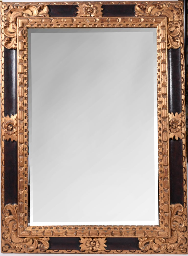 Mid-20th Century Giltwood Framed Hanging Wall Mirror For Sale 4