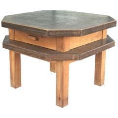 Mid-Century Octagonal Side or Center Table in Walnut