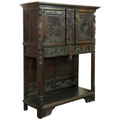 Neogothic Cupboard, Oak, 19th Century