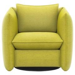Vitra Mariposa Club Armchair in Lemon by Edward Barber & Jay Osgerby 'Iroko 2'