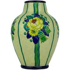 Art Deco Keramis Boch La Louviere Vase