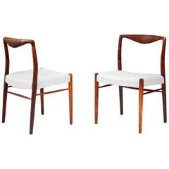 Kai Lyngfeldt-Larsen Pair of 1960s Danish Rosewood Side Chairs