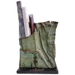 """""""Bicentenaire Dans La Poche"""", A Bronze Sculpture Relief by Tomasz Kawiak 'Tomek'"""