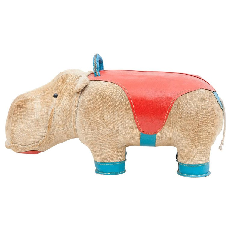1970s High-Quality Children Toy 'Hippo' by German Renate Müller 'c' 1