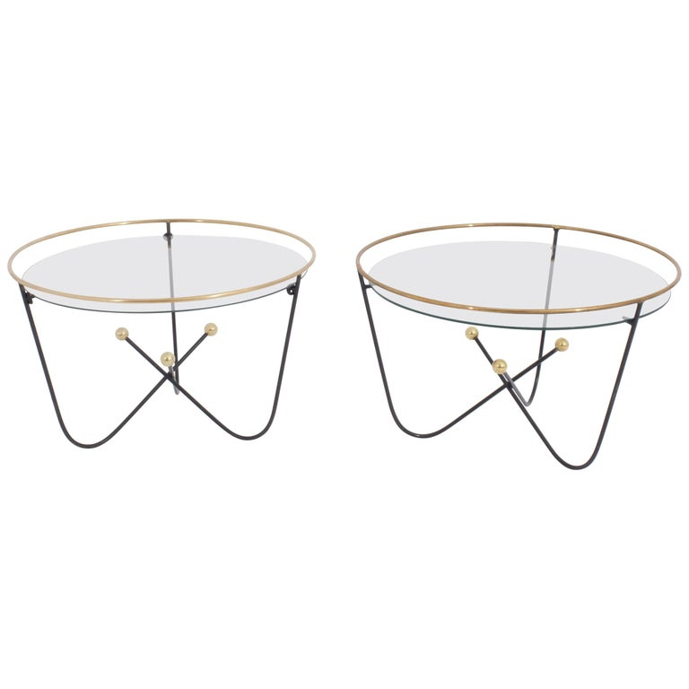 Pair of Low Side Table or End Table by Edward Ihnatowicz Mars Furniture For Sale