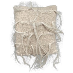 Trousseau Handwoven Felted Organic Wool White Pillow