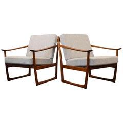 Vintage Peter Hvidt & Orla Mølgaard Nielsen FD-130 Teak Lounge Chairs
