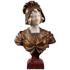 Early 20th Century Art Deco Portrait Bust by Affortunato Gory (1895-1925)