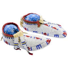 Fully Beaded Ceremonial Moccasins