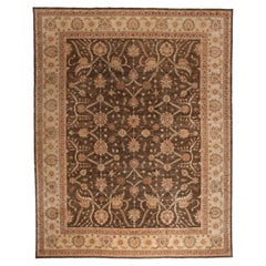 Brown Pakistani Wool Area Rug