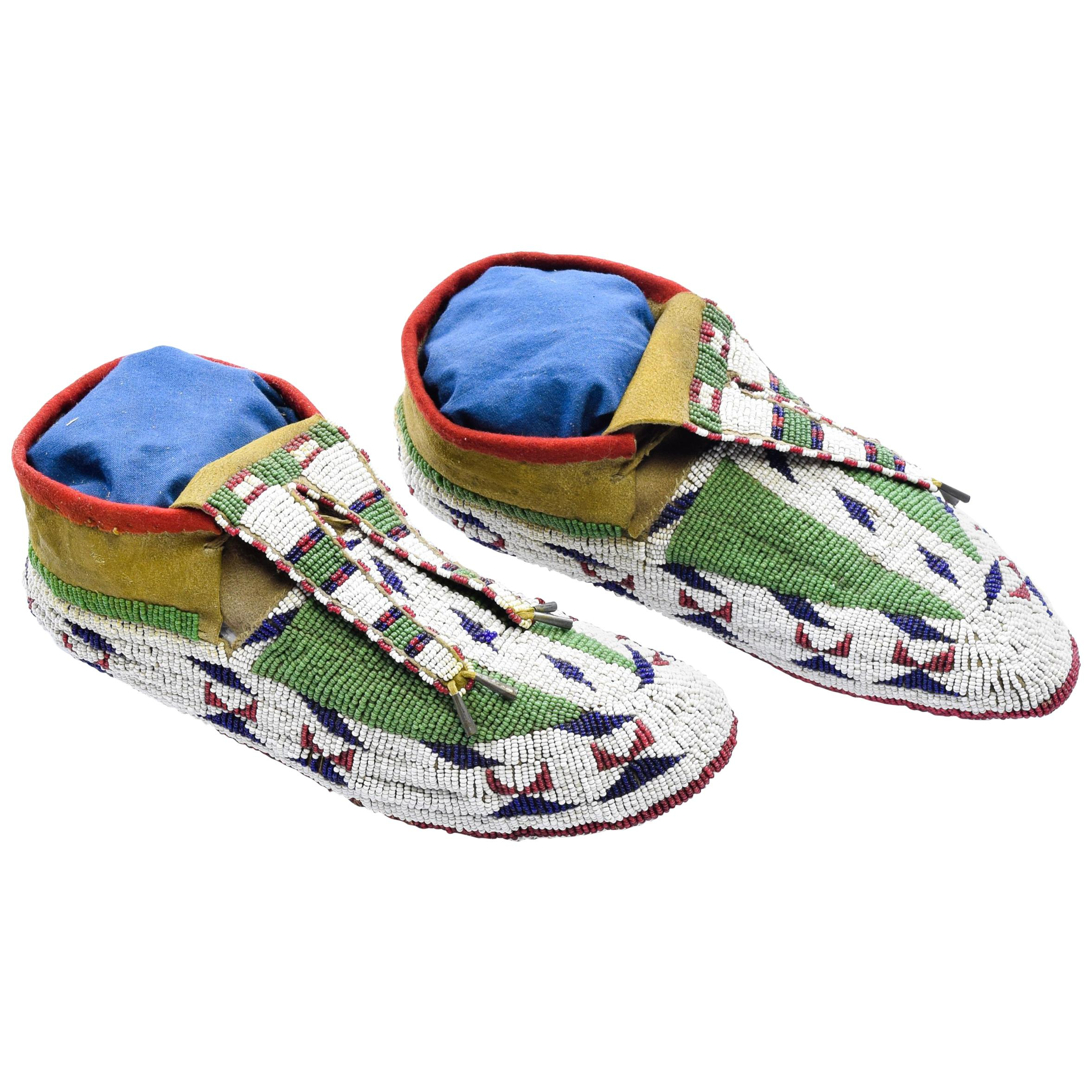 Native American Sioux Authentic Ceremonial Moccasins