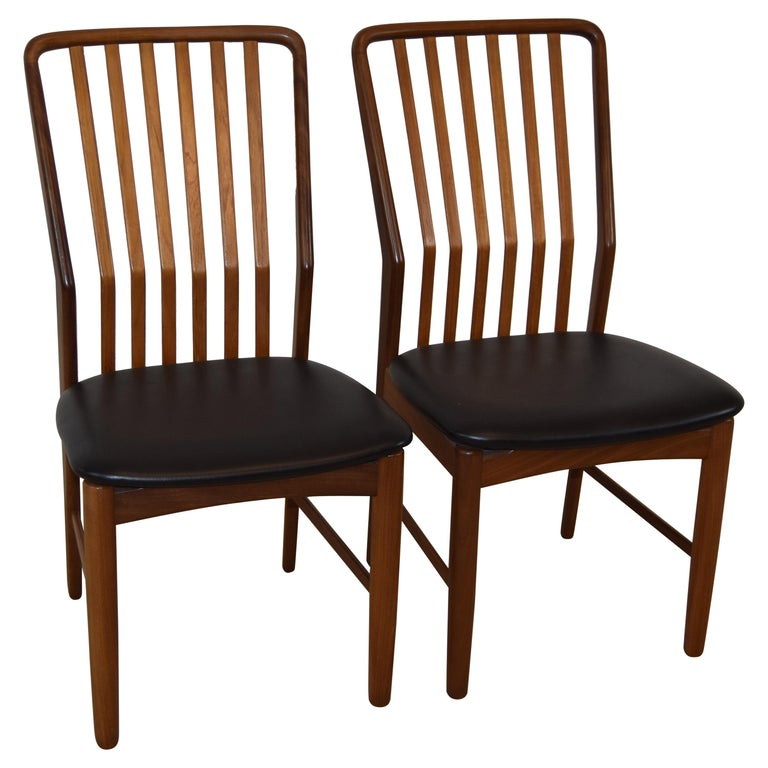 Pair Of Mid Century Modern Danish Teak Moreddi Chairs For Sale At