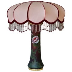 Jugendstil Tischlampe aus Glas