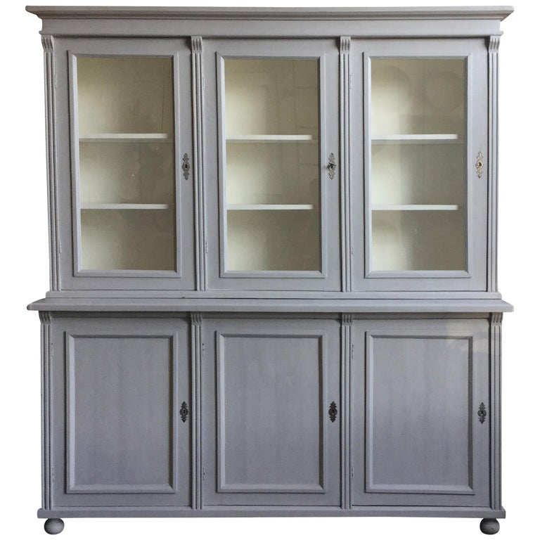Antique Euro Grey Hutch For Sale