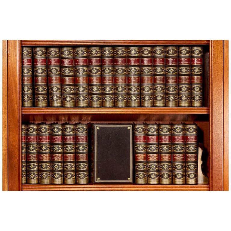 Books, The Writings of William Makepeace Thackeray, Antiques Leather-Bound Set For Sale