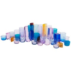 Polygonale Glaswaren von Omer Arbel für OAO Works, Geometrische geblasene Glasskulptur