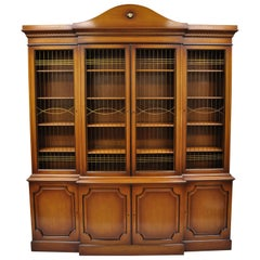 Maslow Freen French Empire Style Breakfront Bookcase China Cabinet