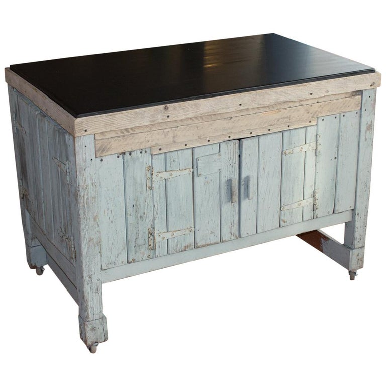 Early 20th Century English Industrial Cabinet For Sale