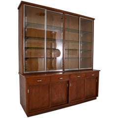 Ernst Rockhausen Bauhaus Style Plywood and Oak Display Cabinet, Germany, 1920s