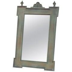 Old German Antique Style Wooden Mirror