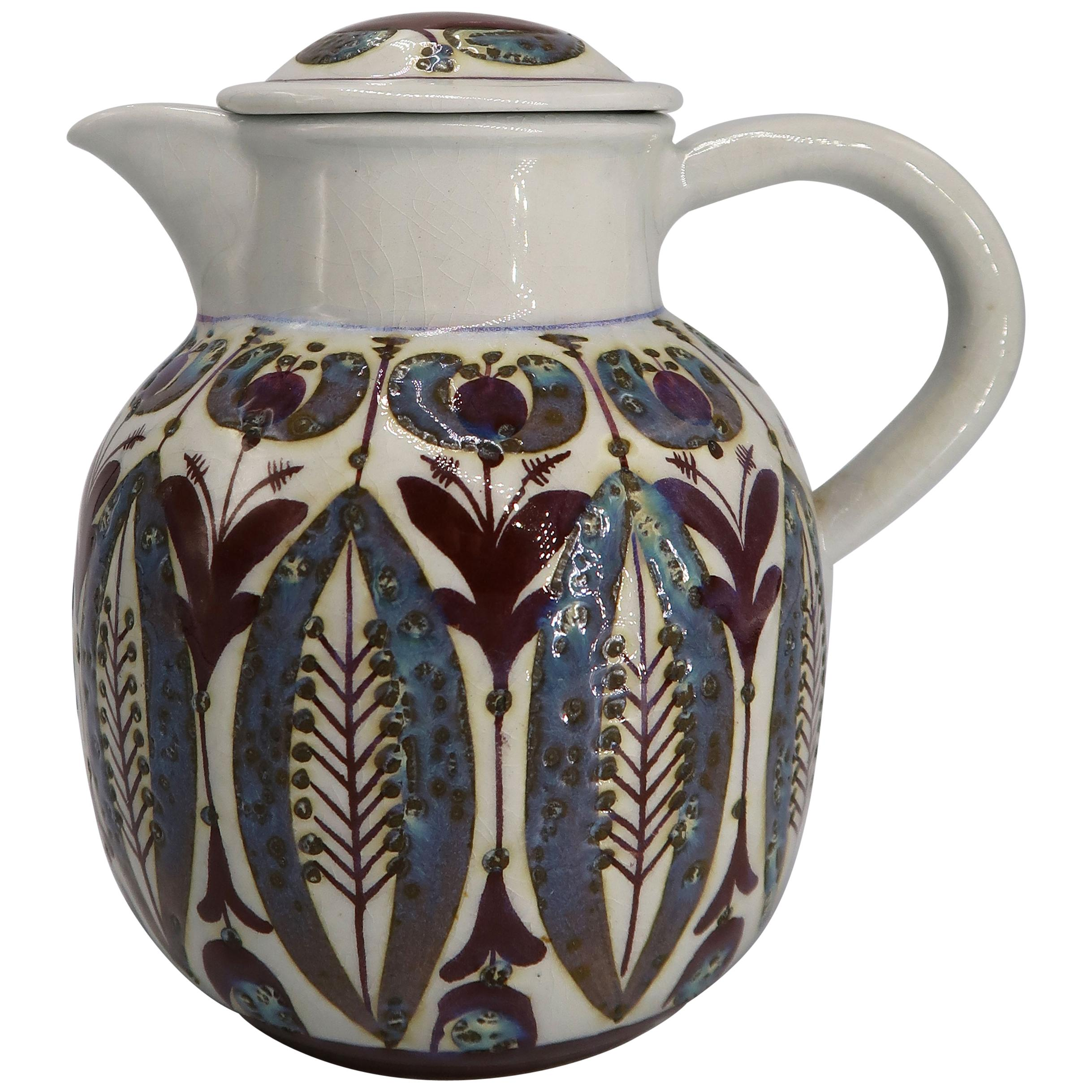 Royal Copenhagen Aluminia Faience Pitcher by Berte Jessen, 1960s