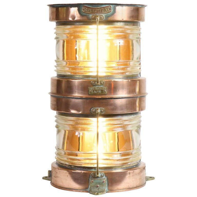 Ship's Lantern by Meteorite For Sale