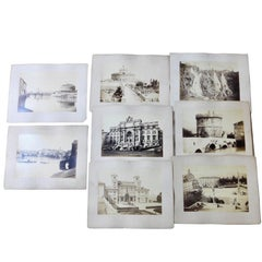 Eight Large Format Roman Architectural Grand Tour Photographs, circa 1890