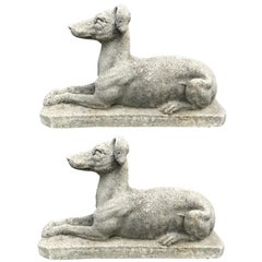 Pair of English Stone Whippets