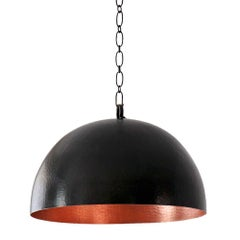 Pendant Light in Hammered Copper, Arco, Size B, Cobre Collection