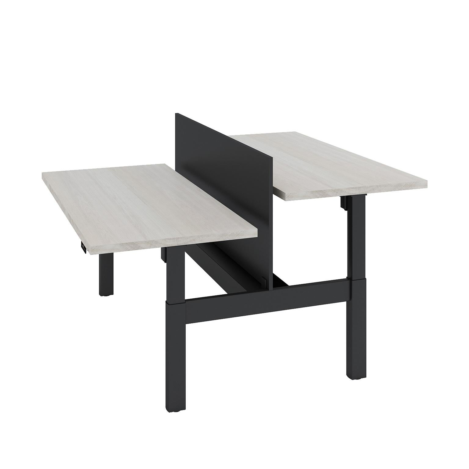 White gray solid wood office Office Furniture Custom Sitstand Apexgarcinia Custom Sitstand