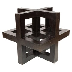 Openwork Bronze Geometric Sculpture