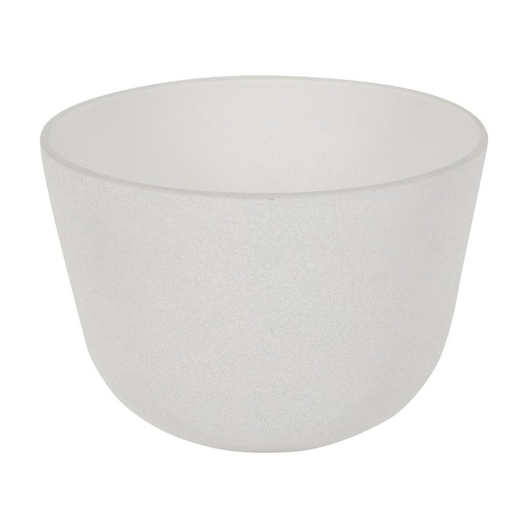 White Scavo Glass Bowl For Sale