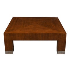 Mid-Century Modern Lacquered Square Coffee Table