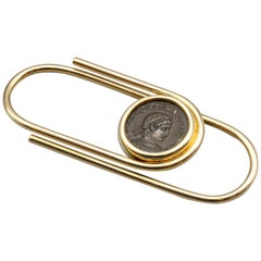 Bulgari Gold Money Clip with Ancient Coin