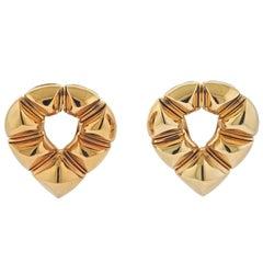 Bulgari Gold Pyramid Earrings