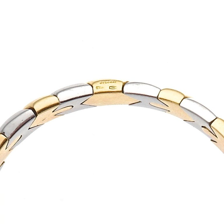 Bulgari Gold and Steel Bracelet In Excellent Condition For Sale In Beverly Hills, CA
