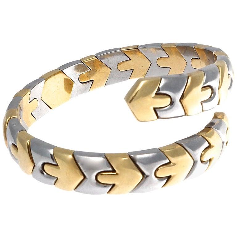 Bulgari Gold and Steel Bracelet For Sale