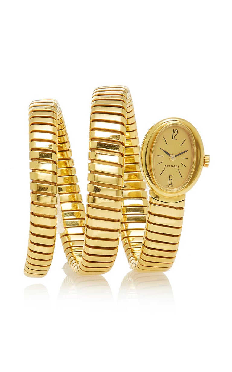 Bulgari Gold Tubogas Ladies Watch In Excellent Condition For Sale In New York, NY