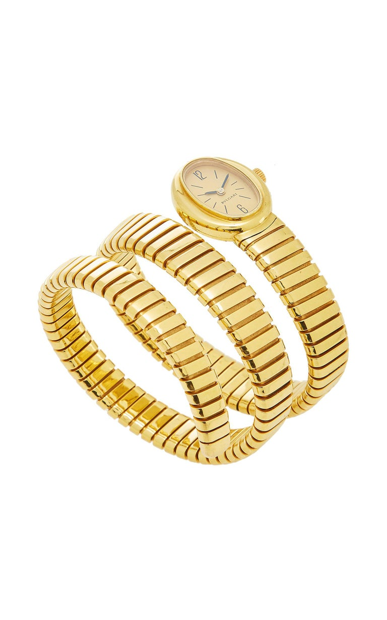 Women's Bulgari Gold Tubogas Ladies Watch For Sale